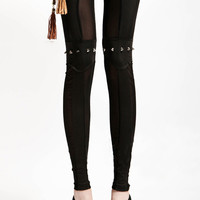 Black Rivets Leggeings