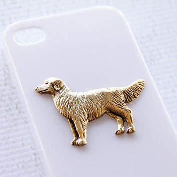 Golden Retriever iPhone 4 and 4S Classy White Plastic Hard Cover Phone Case iPhone 6 Case