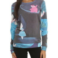 Disney Alice In Wonderland Cheshire Girls Pullover Top