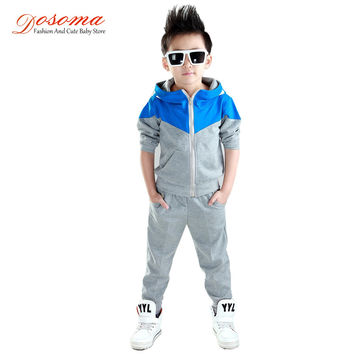 Kids Clothes Boys  Baby Boys Spring Hoodied Coats And Jackets Pants Set Korean Fashion Children Clothing Sports Suit For Boy