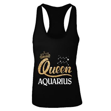 Queen Aquarius Zodiac January February Birthday Gift