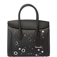 Alexander McQueen Heroine 35 Studded Leather Shopper Tote Bag, Black