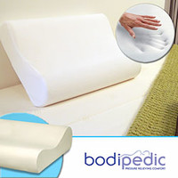Bodipedic Memory Foam Medium Comfort Standard-size Contour Pillow