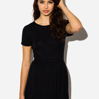 Love Basics Black Skater Dress
