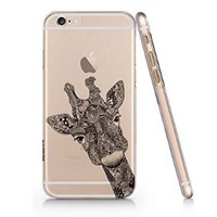Giraffe Iphone 6 Plus Case, Iphone 6 Plus Case Slim White Cover Skin For Iphone 6 Plus 5.5 Screen-Quindyshop