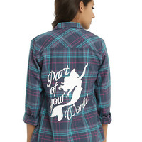 Disney The Little Mermaid Part Of Your World Plaid Girls Woven