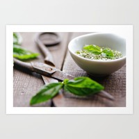 Herbs Kitchen still life from Basil Art Print by Tanja Riedel