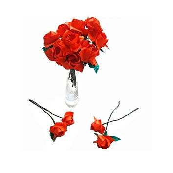 Origami Rose Bouquet 12 Paper Roses Flower Bouquet for Valentine's Day Gift