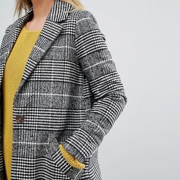 River Island Check Tailored Coat at asos.com