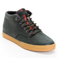 The Hundreds Johnson Mid Black Leather & Flannel Shoe