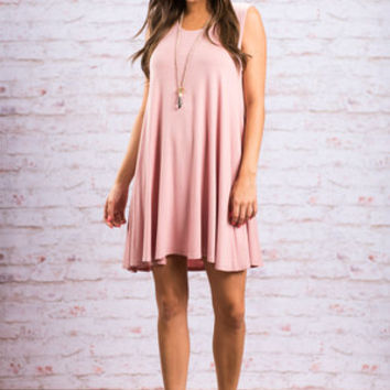 Casual Reference Dress, Mauve
