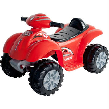 Lil' Rider? Battery Powered Red Raptor 4 Wheeler