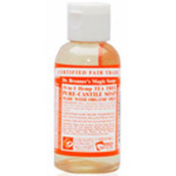 Dr. Bronner's Magic Soaps Organic 18-in-1 Hemp Pure Castile Liquid Soaps Tea Tree 2 fl. oz.