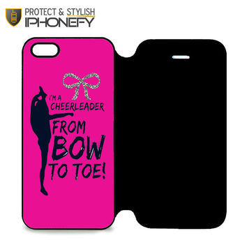Bow To Toe Cheer iPhone 5 Flip Case|iPhonefy