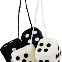 1 of Bell Automotive 33603-8 Fuzzy Dice,  Black or White