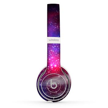 The Vivid Pink Galaxy Lights Skin Set for the Beats by Dre Solo 2 Wireless Headphones