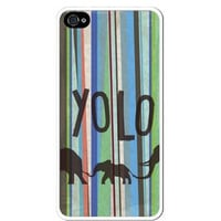 Premium Direct Print Hipster YOLO You Only Live Once Striped Aztec Elephant iphone 6 Quality Hard Snap On Case for iphone 6/Apple iphone 6 - AT&T Sprint Verizon - White Case PLUS Bonus RCGRafix The Best Iphone Business Productivity Apps Review Guide