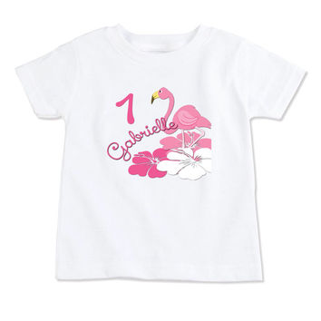 T-Shirt-Birthday T-Shirt-Party T-Shirt-Personalized-Custom T-Shirts- Party Favor-Party Decor-Pink Flamingo-Tropical Flamingo-Flamingo