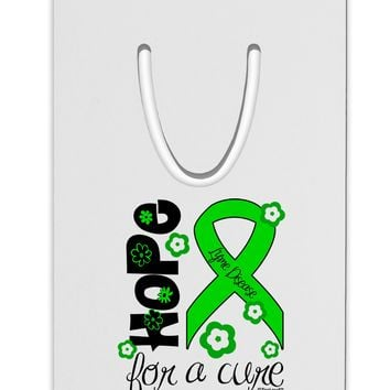 Hope for a Cure - Lime Green Ribbon Lyme Disease - Flowers Aluminum Paper Clip Bookmark