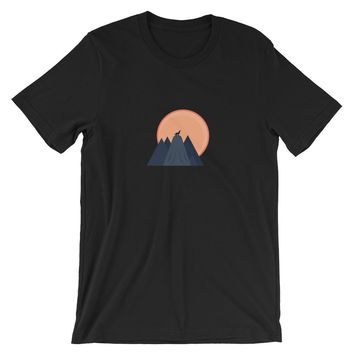 Wolf Howl At The Moon Men's T-Shirt