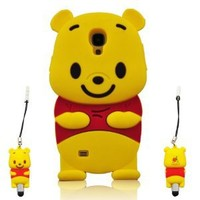I Need Winnie the Pooh 3d Soft Silicone Case Cover Faceplate Protector for for Samsung Galaxy S4 S Iv I9500 With 3D Winnnie the Pooh Stylus Pen