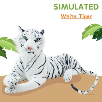 White Tiger Realistic Giant Stuffed Animal Plush Toy 67""