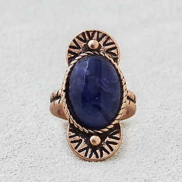 AEO Black Onyx Cocktail Ring, Gold