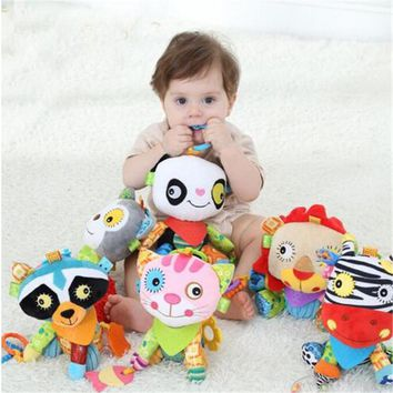 Jollybaby Baby Toy Soft Animals  Plush Doll Baby Crib Bed Hanging Animal Toy Teether Multifunction Doll Kids Toy