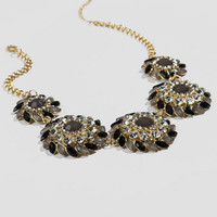 Broadway Statement Necklace in Black
