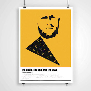 The Good, the bad and the ugly poster clint eastwood western print alternate movie poster