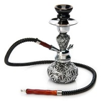 1PCS High Quality  Black Metal Resin Leaves Small Hookah Nice Shisha 1 PVC Hose Best Gifts For Smoke Smoking Herb Tobacco Pipe