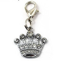 Fashion Pet Dog Cat Diamond Rhinestone Pendant Collar Tag Crown Style