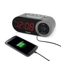 "Sharp 1"" LED Clock with USB - Walmart.com"