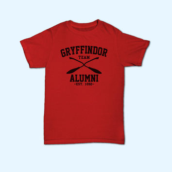 Team Gryffindor Alumni Harry Potter Gryffindor House Logo T-Shirt - Gift for friend - Present