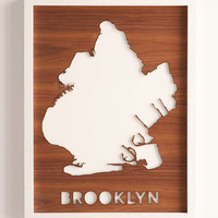 Pop Chart Lab Brooklyn Drop-Cut Framed Wall Art - Urban Outfitters