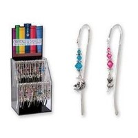Glass Beaded Metal Hook Bookmarks (Sold Individually)