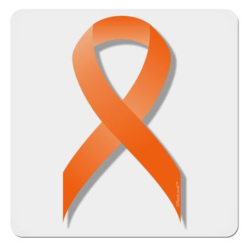 "Leukemia Awareness Ribbon - Orange 4x4"" Square Sticker"
