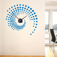 Swirl around the Clock wall decal