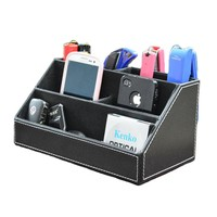 Office Compartment Multifunctional Desk Stationery Organizer Storage Box - Black