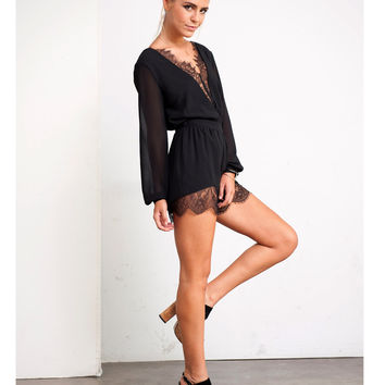 Lace Me Up Romper
