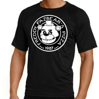 Five Nights At Freddys: Freddy Fazbears Pizza Black Tshirt