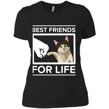 Funny Cat - Best Friends For Life Cute  Cats Gifts Next Level Ladies Boyfriend Tee