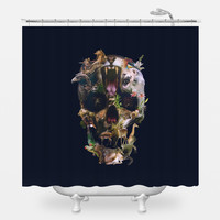 Kingdom Skull Shower Curtain