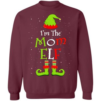 I'm The Mom Elf Family Matching Funny Christmas Group Gift