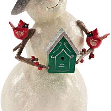 Home sweet home Snowman with Birdhouse Figurine