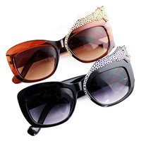 ROMWE Leopard Shaped Embellishment Cool Sunglasses