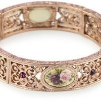 1928 Jewelry Manor House Victorian Rose Gold-Tone Bracelet: Jewelry: Amazon.com