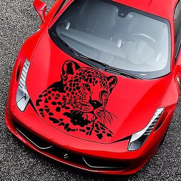 Car Hood Decals Leopard Wild Cat Decal Vinyl Sticker Murals O232