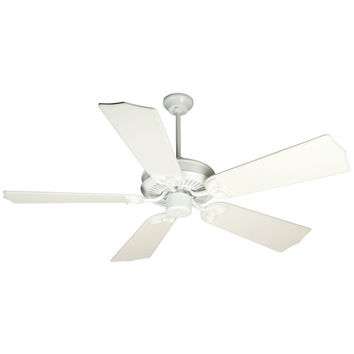 Craftmade K10680 CXL White Ceiling Fan with 56-Inch Custom Carved Traditional Distressed White Blades