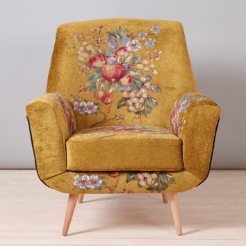 Bay armchair - gobelin love